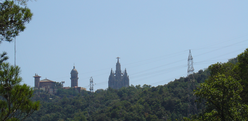 Tibidabo from behind - a very welcome sight!
