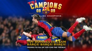 Barça's victory celebrated