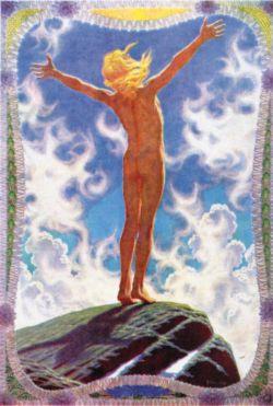 "\""Lichtgebet\"" (\""Prayer to the Sun\"") - Fidus, 1913"